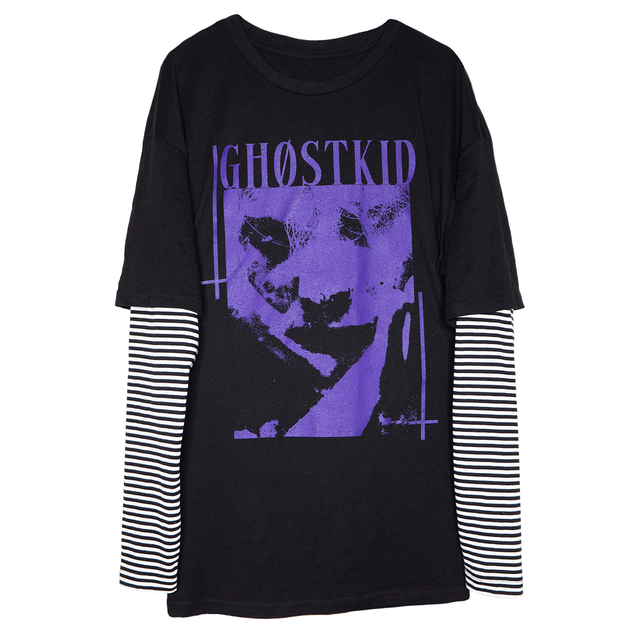 GHOSTKID Ghøstkid - Oversized Double Layer Longsleeve Longsleeve