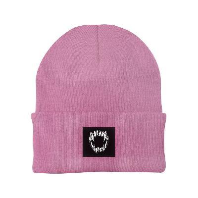 GHOSTKID Ghøstkid - Vampire Teeth Patch Beanie Beanie dusty pink