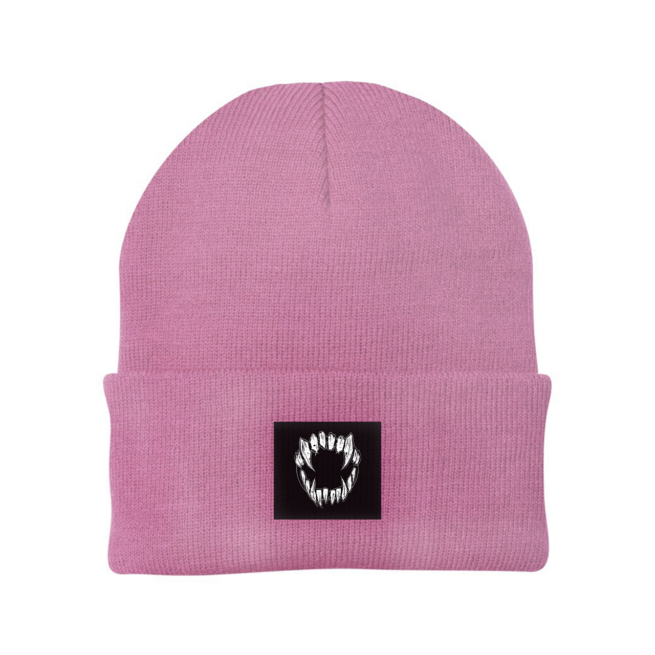 GHOSTKID Ghøstkid - Vampire Teeth Patch Beanie Beanie, dusty pink