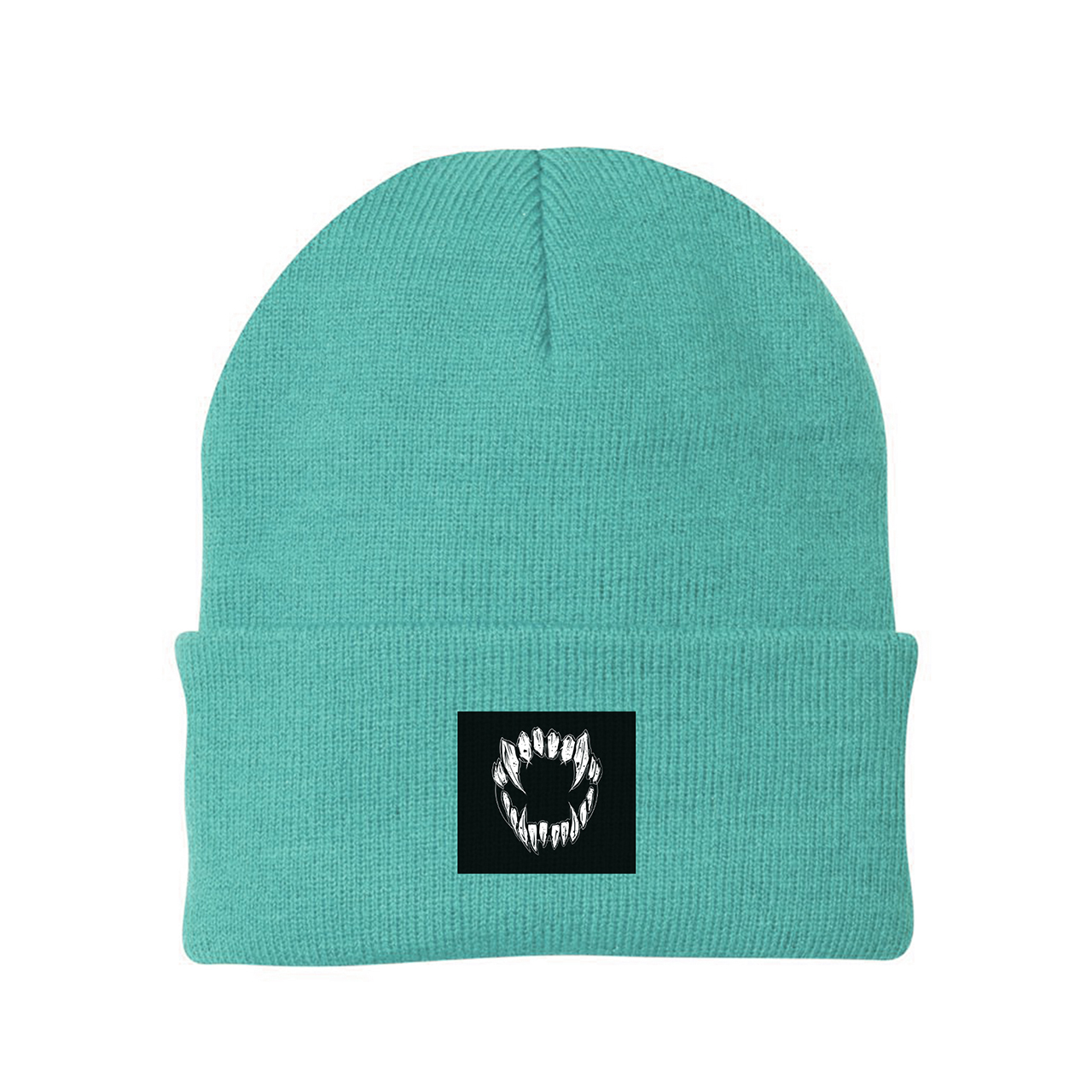 GHOSTKID Ghøstkid - Vampire Teeth Patch Beanie Beanie, mint green
