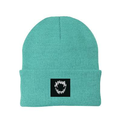 GHOSTKID Ghøstkid - Vampire Teeth Patch Beanie Beanie mint green